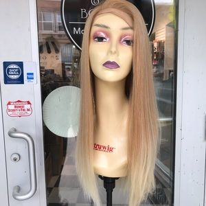 Accessories - Blonde Mix Silky straight wig Fullcap wear up down